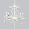 White 5 Light Grace Chandelier