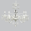 White 5 Light Wistful Chandelier