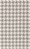 White and Gray Houndstooth Frontier Rug