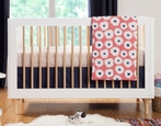 White and Natural Lolly Convertible Crib