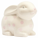 White and Pink Bunny Piggy Bank