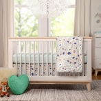 White and Washed Natural Scoot Convertible Crib