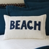 White Beach Linen Throw Pillow