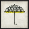 White Black and Yellow Umbrella Framed Wall Art