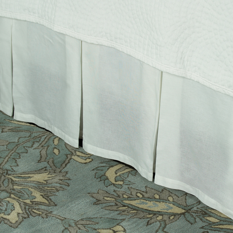 white box pleat bedskirt by company c rosenberryrooms