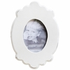 White Carved Wall Frame - Oval