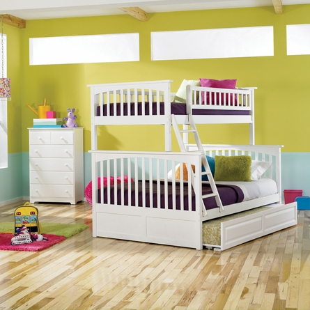 White Classic Arch Slatted Bunk Bed