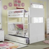 White Classic Beadboard Bunk Bed