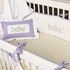 White Collection Crib Bedding - 3 Piece Set