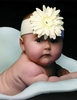 White Daisy Soft Headband