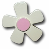 White Daisy with Pink Center Drawer Pull