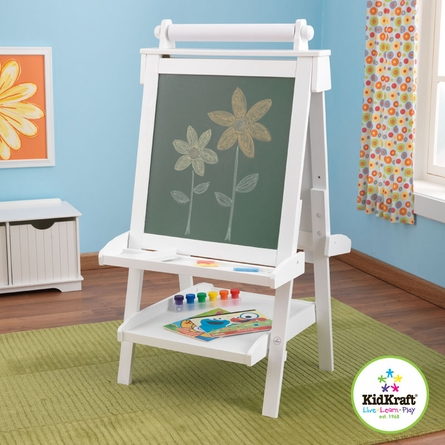 White Deluxe Wood Easel