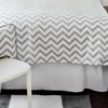 White Denim Bed Skirt