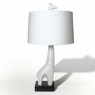 White Giraffe Lamp