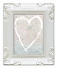 White Heart Decorative Framed Art Print
