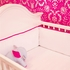 White & Hot Pink Crib Bedding Set