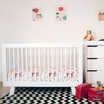 White Hudson Convertible Crib