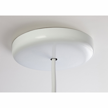 White Large Cylinder Pendant Light with Taupe Trim
