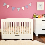 White Mercer Convertible Crib