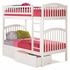 White Modern Curved Slatted Bunk Bed