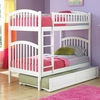 White Modern Curved Slatted Twin Bunk Bed