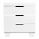 White Modo 3 Drawer Changer Dresser