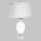 White Opaque Traditional Base Lamp With White Shade