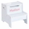 White Personalized Step Stool