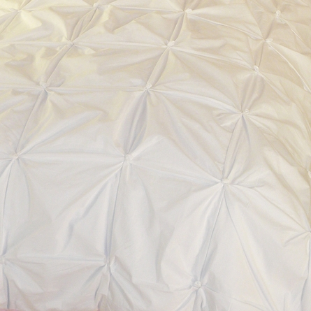 White Pin-Tucked Duvet Cover