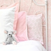 White Pique Accent Pillow in Pink