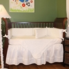 White Pique Crib Bedding Set