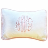 White Pique Throw Pillow in Pink