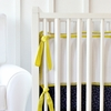 White Pique with Citrus Piping Crib Bumper