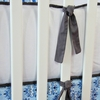 White Pique with Dark Gray Crib Bumper
