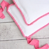 White Pique with Pink Piping Crib Bumper