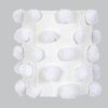 White Pom Pom Drum Chandelier Shade