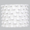 White Pom Pom Large Drum Shade