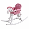 White Rocking Horse with Pink Accents