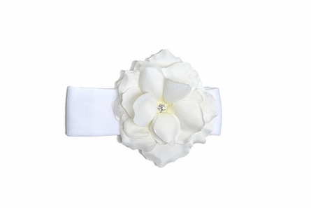 White Rose Soft Headband