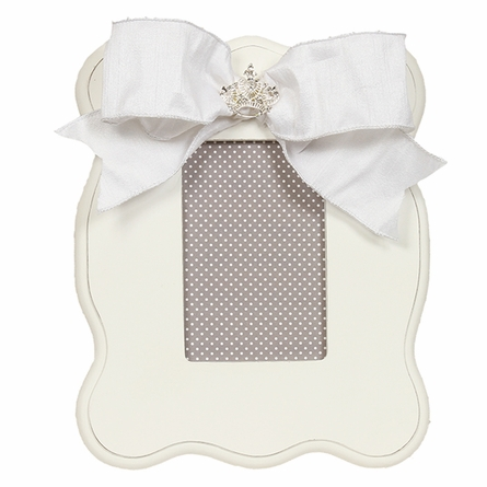 White Scalloped Picture Frame