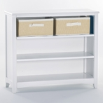 White School House Short Vertical Bookcase