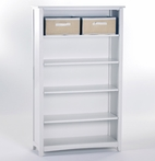 White School House Tall Vertical Bookcase