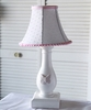 White Swiss Dot Butterfly Mini Lamp