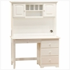White Traditional Desk with Hutch
