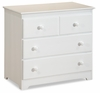 White Traditional Three Drawer Dresser