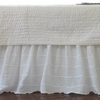 White Tucked Bed Skirt