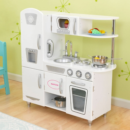 White Vintage Play Kitchen