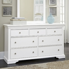 White Walnut Street 7 Drawer Dresser