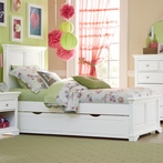 White Walnut Street Devon Panel Bed