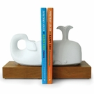 White Whale Bookends